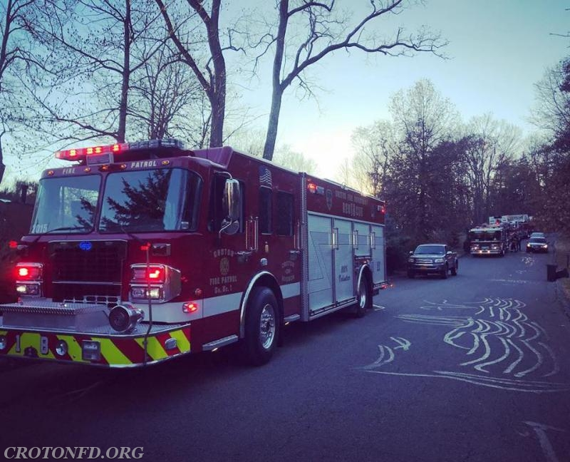 Units operating on Georgia Lane at an activated alarm, Call #1 of the day.