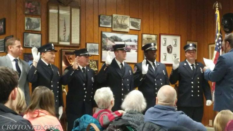 Lieutenants taking their oaths.