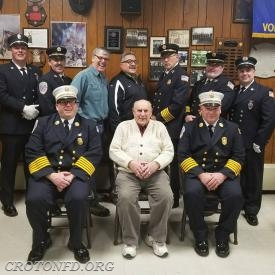 The 2018 Officers from Washington Engine (missing are Lt. C. Rinaldi, Engr. Kempter and Engr. Gallagher).