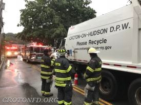 Grand/Maple Garbage Truck Fire